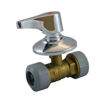 2 x Hepworth Hep2O 22mm in-wall concealed brass stopcock / tap . Full bore valve